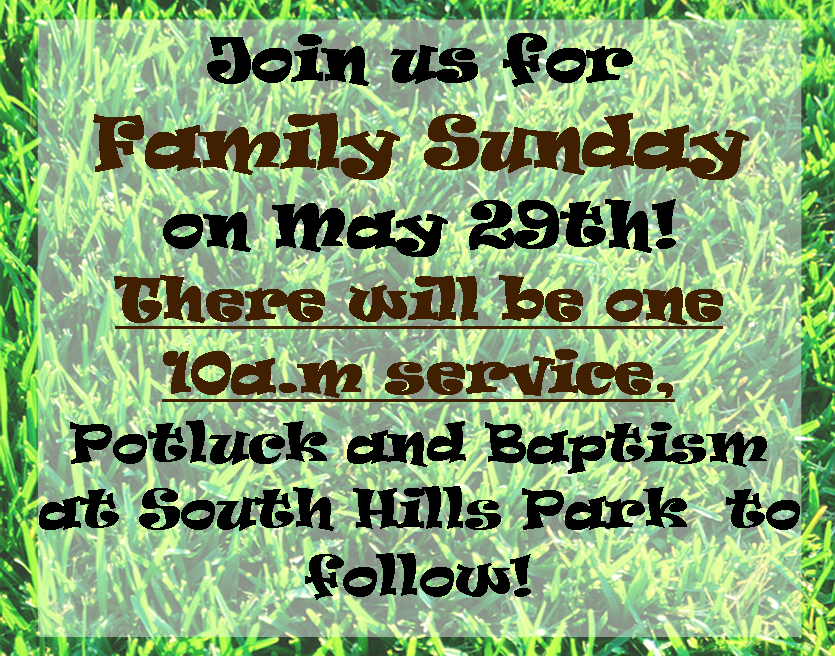 Family Sunday 5-29