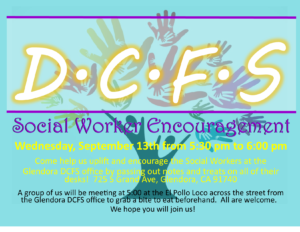 DCFS Social Worker Encouragement @ Glendora Department of Children and Family Services | Glendora | California | United States