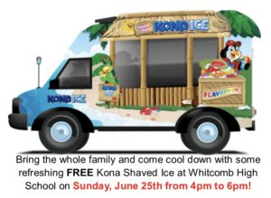 FREE Kona Shaved Ice! @ Whitcomb Highschool Parking Lot | Glendora | California | United States