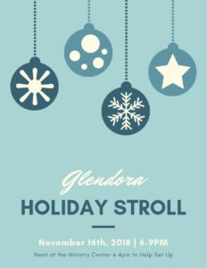 Holiday Stroll in Downtown Glendora
