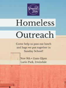Homeless Outreach with Vineyard Kids @ Lario Park