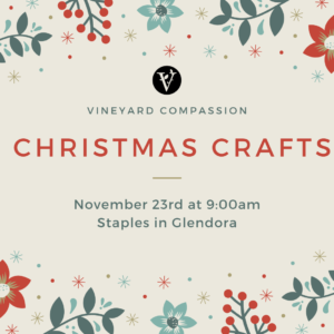 Vineyard Compassion Christmas Crafts