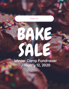 Youth Bake Sale Winter Camp Fundraiser