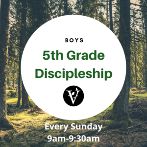 Boys 5th Grade Discipleship