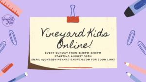 Vineyard Kids Online!