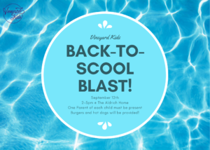 Back-to-School-Blast Pool Party!