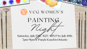 Vineyard Women Painting Night